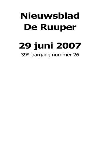 Dorpsblad Leunen-Veulen-Heide 2007-06-29