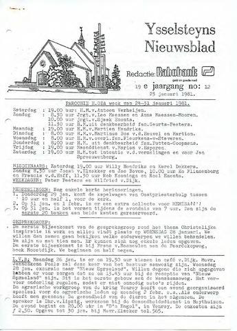 Ysselsteyns Nieuwsblad 1981-01-23
