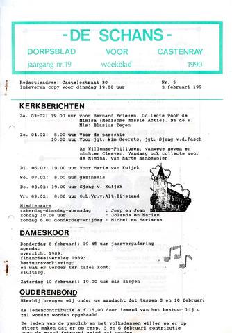 Castenrays dorpsblad De Schans 1990-02-02