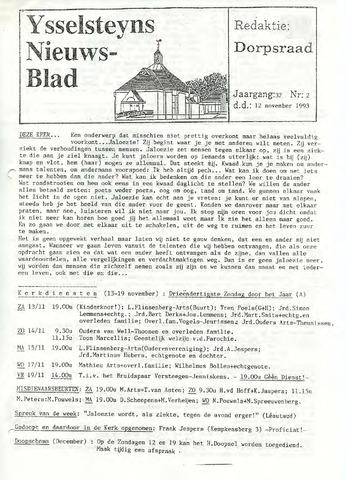 Ysselsteyns Nieuwsblad 1993-11-12
