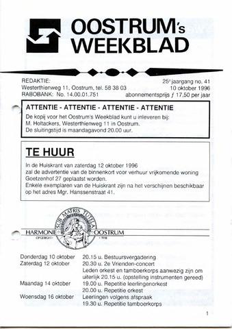 Oostrum's Weekblad 1996-10-10