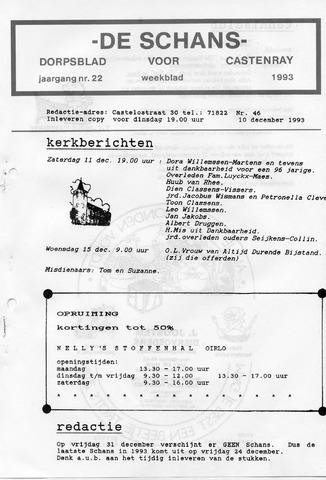 Castenrays dorpsblad De Schans 1993-12-10