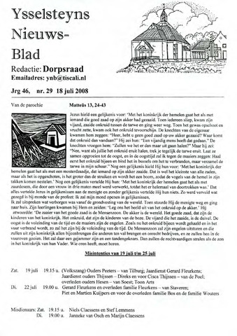 Ysselsteyns Nieuwsblad 2008-07-18