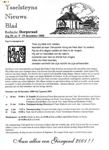 Ysselsteyns Nieuwsblad 2000-12-29