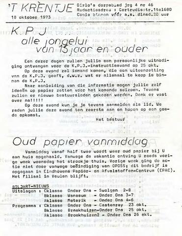 Oirlo's dorpsblad 't Krèntje 1973-10-18