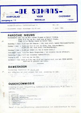 Castenrays dorpsblad De Schans 1984-06-01