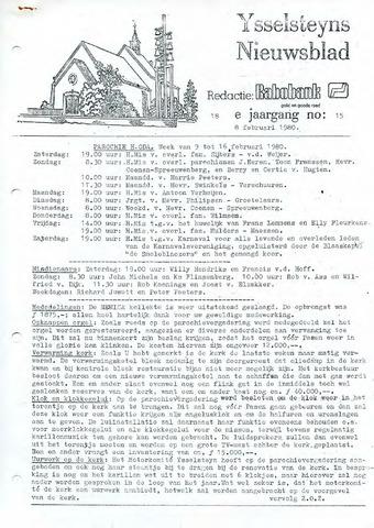 Ysselsteyns Nieuwsblad 1980-02-08