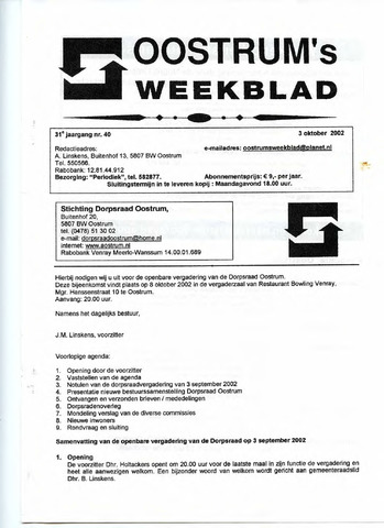 Oostrum's Weekblad 2002-10-03