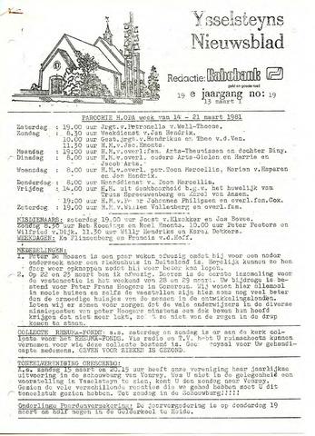 Ysselsteyns Nieuwsblad 1981-03-13