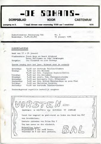 Castenrays dorpsblad De Schans 1976-01-16