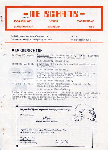 Castenrays dorpsblad De Schans 1985-09-20