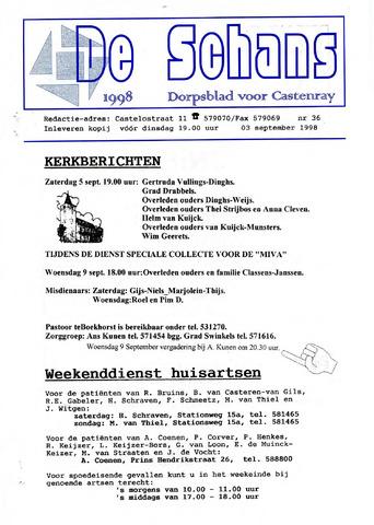 Castenrays dorpsblad De Schans 1998-09-03