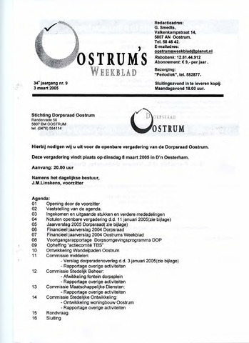 Oostrum's Weekblad 2005-03-03