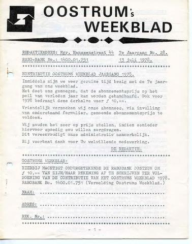Oostrum's Weekblad 1978-07-13