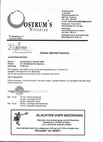 Oostrum's Weekblad 2008-01-10