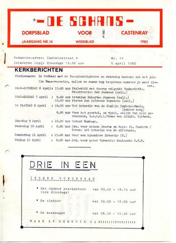 Castenrays dorpsblad De Schans 1985-04-05