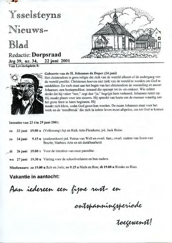 Ysselsteyns Nieuwsblad 2001-06-22
