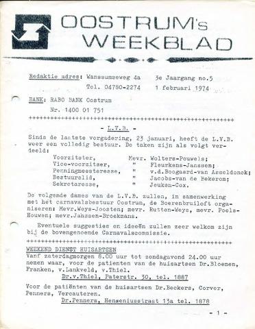 Oostrum's Weekblad 1974-02-01