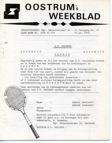 Oostrum's Weekblad 1978-05-25