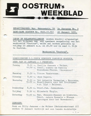 Oostrum's Weekblad 1976-01-22