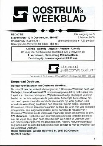 Oostrum's Weekblad 2000-02-03