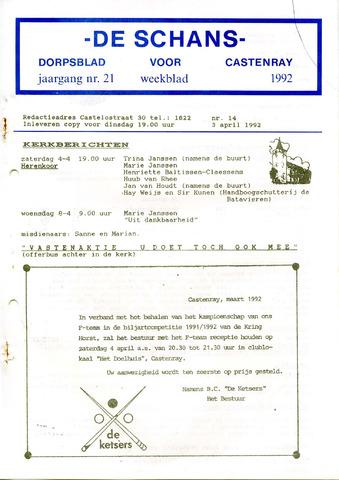 Castenrays dorpsblad De Schans 1992-04-03