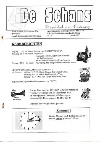 Castenrays dorpsblad De Schans 2005-03-23