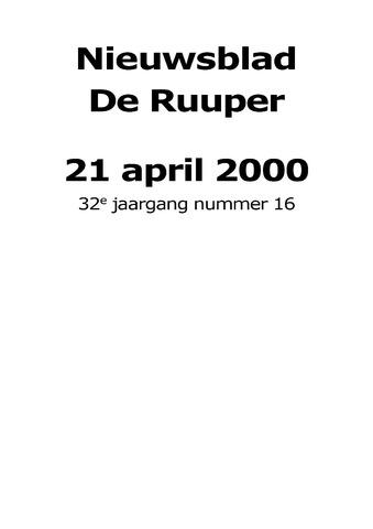Dorpsblad Leunen-Veulen-Heide 2000-04-21