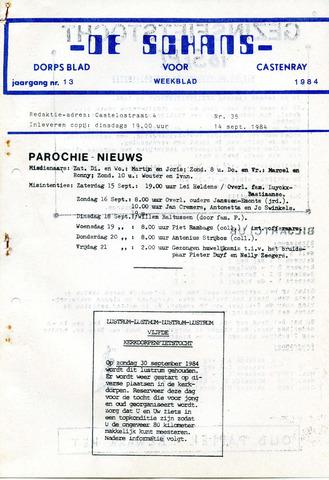 Castenrays dorpsblad De Schans 1984-09-14
