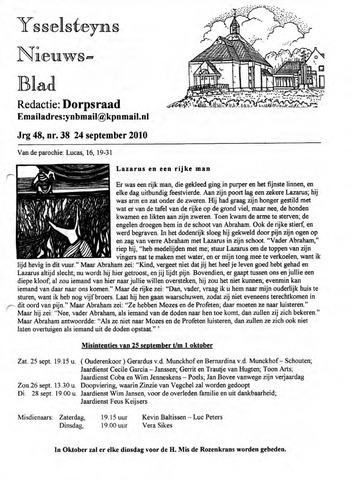 Ysselsteyns Nieuwsblad 2010-09-24