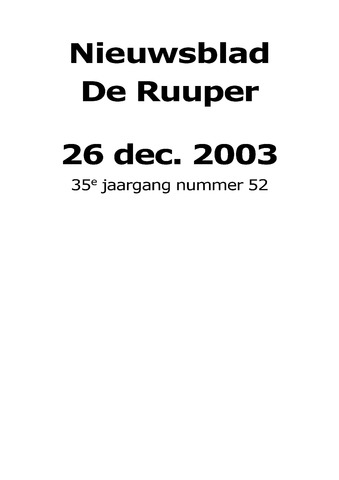 Dorpsblad Leunen-Veulen-Heide 2003-12-26