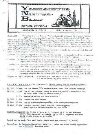 Ysselsteyns Nieuwsblad 1991-02-15