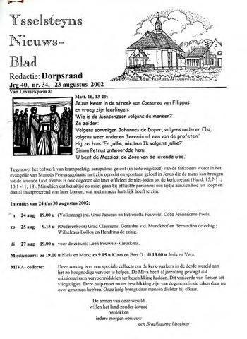 Ysselsteyns Nieuwsblad 2002-08-23