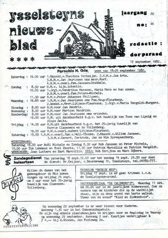 Ysselsteyns Nieuwsblad 1982-09-17