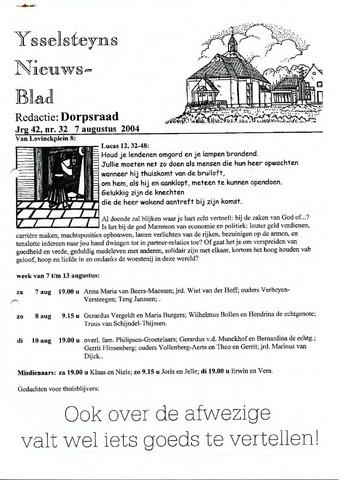Ysselsteyns Nieuwsblad 2004-08-07