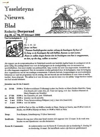 Ysselsteyns Nieuwsblad 2000-02-25