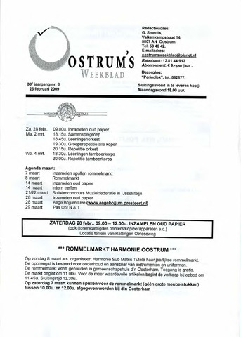 Oostrum's Weekblad 2009-02-26