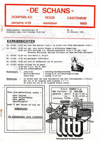 Castenrays dorpsblad De Schans 1989-02-24