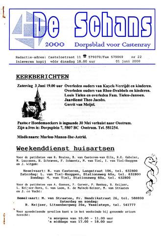 Castenrays dorpsblad De Schans 2000-06-01