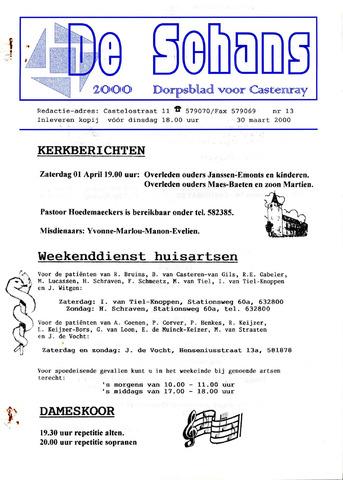 Castenrays dorpsblad De Schans 2000-03-30