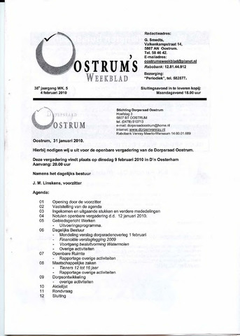 Oostrum's Weekblad 2010-02-04