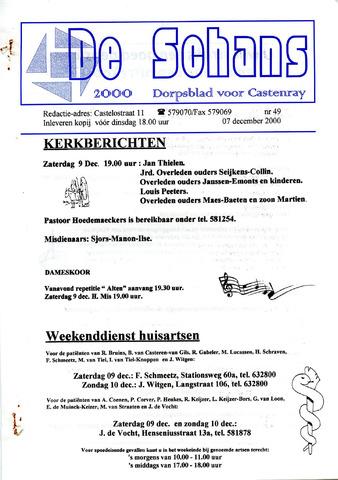 Castenrays dorpsblad De Schans 2000-12-07