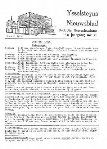 Ysselsteyns Nieuwsblad 1974-04-05