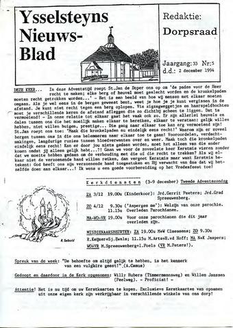 Ysselsteyns Nieuwsblad 1994-12-02