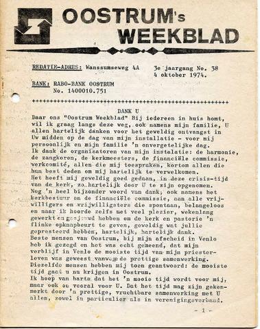 Oostrum's Weekblad 1974-10-04