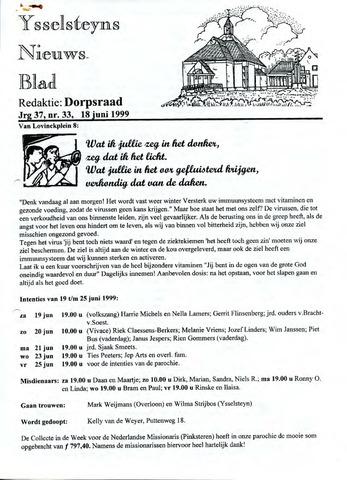 Ysselsteyns Nieuwsblad 1999-06-18