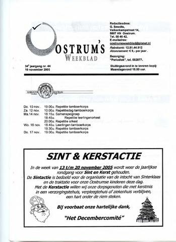 Oostrum's Weekblad 2005-11-10