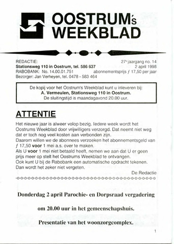 Oostrum's Weekblad 1998-04-02