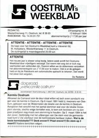 Oostrum's Weekblad 1994-02-10