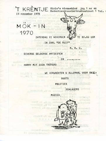 Oirlo's dorpsblad 't Krèntje 1970-11-13
